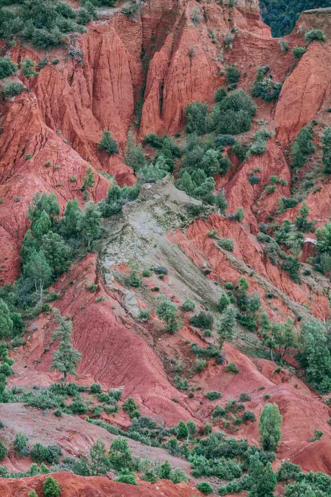 copper terrain with greenery
