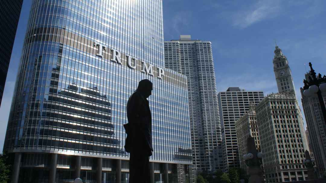 Picture of city and trump tower